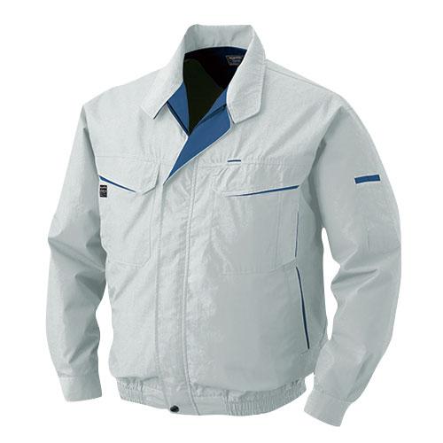 0470G22 綿・ポリ混紡ワーク空調服TM(大容量バッテリーセット) シルバー・グレーファン L