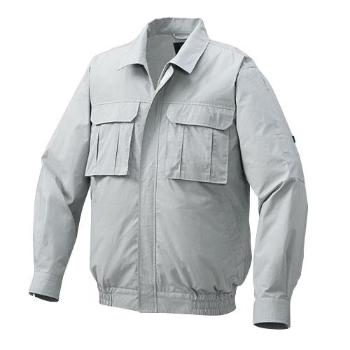 1900G22 綿薄手脇下マチ付き空調服TM(大容量バッテリーセット) シルバー・グレーファン L